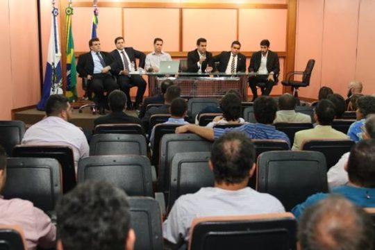Rafael Diniz em primeira reunião com secretários na Prefeitura de Campos (Foto: Carlos Grevi)
