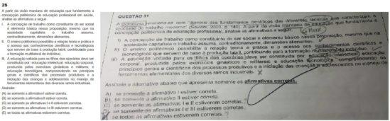 Questão de prova para professor seria igual a do concurso da Fundação Oswaldo Cruz de 2010 (Foto: Reprodução)