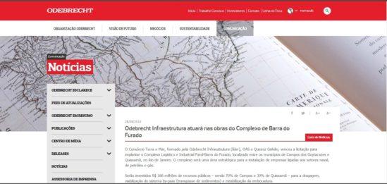 Reportagem da Odebrecht (Foto: reprodução)