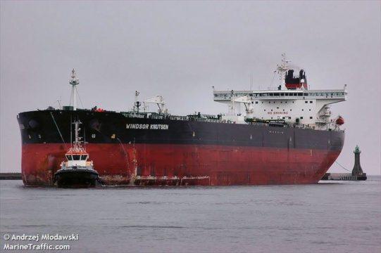 Navio Windsor Knuts, que participou do transbordo (Foto: reprodução)