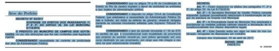 Diário Oficial de Campos (Foto: reprodução)