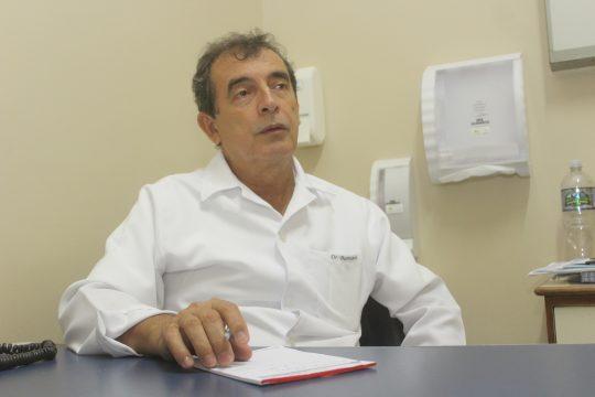 Dr. Borromeu, incansável no acompanhamento clínico (Foto: Silvana Rust)