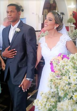 Willian Carvalho e Ana Paula Klem em grande dia!