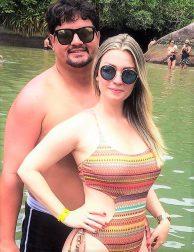 Monique Virgílio e Rodrigo Azevedo em Trindade.