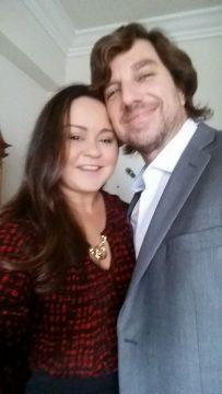 Raquel Venâncio Marins e Richard Wardle nos Estados Unidos da América.