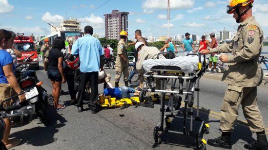 Vítima foi socorrida para o HFM (Foto: Divulgação)