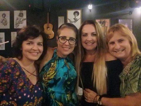 Leonora Tinoco, Sonia Guimarães (aniversariante), Viviane Amaral e Ana Beatriz França.