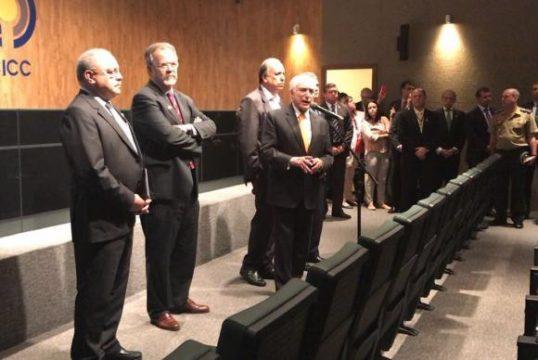 Presidente durante anúncio (Foto: Divulgação)